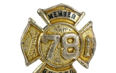 Obsolete Member 78 G.R.O.P.F.D. Firemans Pin Badge