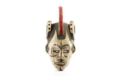 PAINTED IDOMA AFRICAN TRIBAL CREST MASK