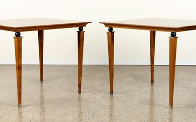 PR FRENCH FRUITWOOD END TABLES MANNER ANDRE ARBUS