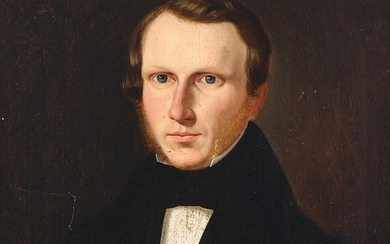 Painter unknown, 19th century: Portrait of Carl Wilhelm? b. 27/12 1802 d. 4/7 1885. Unsigned. Oil on canvas. 26.5×24 cm.