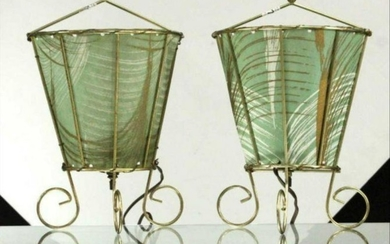Pair Mid-Century Modern Wall Sconces