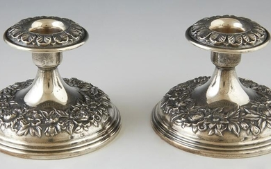 Pair of S. Kirk and Son Weighted Sterling Low