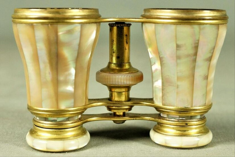 Parisian Mother-Of-Pearl And Brass Opera Glasses