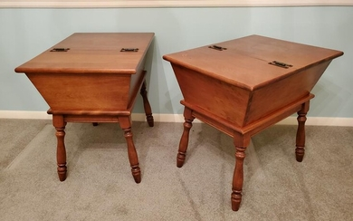 Pr Heywood Wakefield Dough Box Side Tables