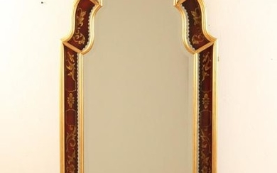 QUEEN ANNE STYLE EGLIMIZED BEVEL GLASS MIRROR