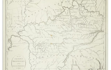 RUSSELL, JOHN. Map of the State of Kentucky with the Adjoining Territories.