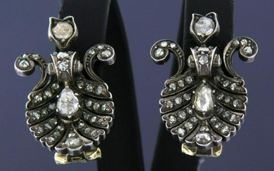 Refurbished early 20th century Dutch diamond earrings