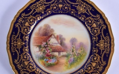 Royal Worcester fine plate hand painted by Raymond