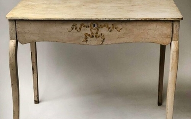SIDE TABLE, 18th century Continental painted with shaped fri...