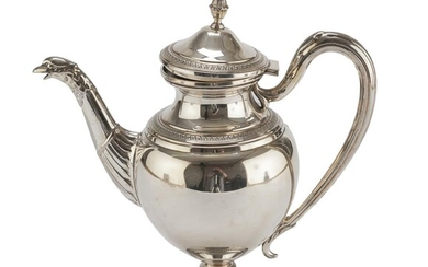 SILVER-PLATED TEAPOT PADUA 20TH CENTURY