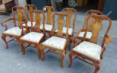 Set of 8 dining chairs, 2 arm, 6 side, Georgian style