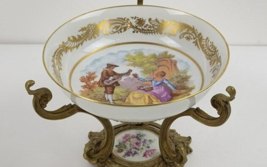 Sevres Style Gilt and Painted Centerpiece