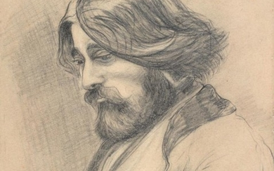 Sir William Rothenstein (1872-1945) ''Augustus John'' Signed, inscribed and dated...