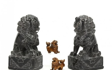 Two Pairs of Foo Dogs