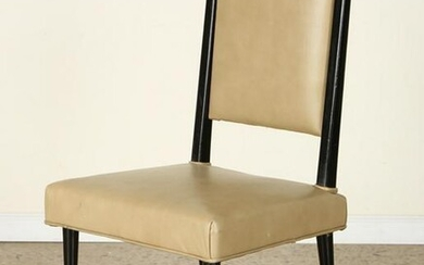 UPHOLSTERED LEATHER DESK CHAIR MANNER GIO PONTI