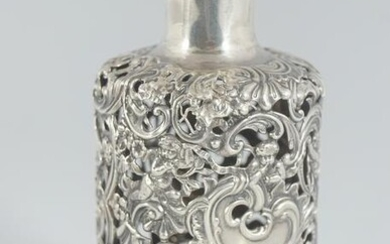 VICTORIAN STERLING SILVER SCENT BOTTLE HOLDER