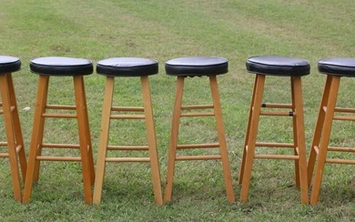 VINTAGE BAR STOOL GROUP OF 6