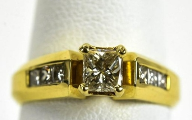 Vintage 14kt Yellow Gold .60 Carat Diamond Ring