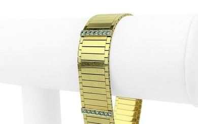 14k Yellow Gold and 1ct Diamond 44.3g Strap Panel Link