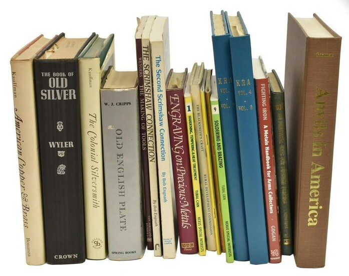 (18) REFERENCE BOOKS: SILVER, METAL, & WEAPONS