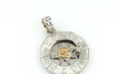 18 kt gold zodiac sign pendant with brilliants