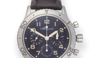 A Stainless Steel Automatic Chronograph Wristwatch, signed Breguet, model: Type...