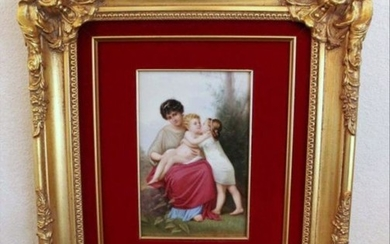 19Th Century Porcelain Plaque