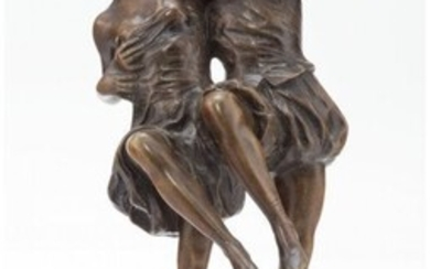27089: Unknown Artist Dancing Couple Bronze 12-1/4 inc