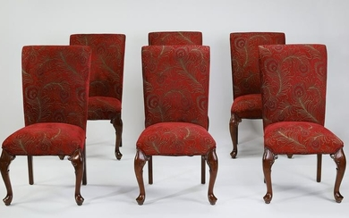 (6) Regency style upholstered side chairs