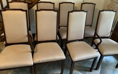 8 Parsons Style Custom Upholstered Dining Chairs
