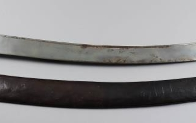 A 19th Century Indian Talwar, the 31ins steel blade...