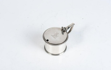 A GEORGE III SILVER MUSTARD POT, WILLIAM BURWASH AND