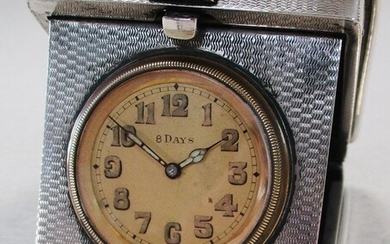 A George V silver travelling timepiece