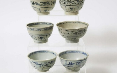 A Group of Eight 'Hoi An Hoard' Vietnamese Blue and