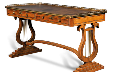 A REGENCY ORMOLU-MOUNTED BRAZILIAN ROSEWOOD WRITING-TABLE