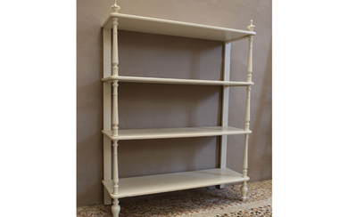 A lacquered wood etagere