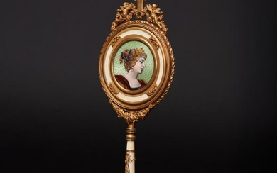 A magnificent hand mirror from the late classical period, probably Paris, 19th century