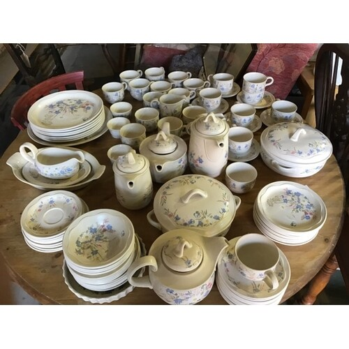 A near complete 18 person Poole pottery tea and dinner servi...
