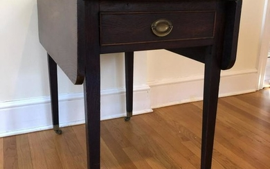 Antique English Sheraton Drop Leaf Side Table