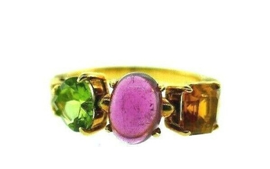 BVLGARI 18k Yellow Gold, Diamond & Gemstone Allegra