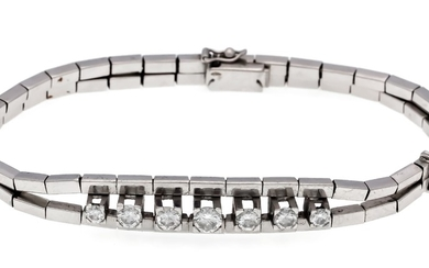 Brilliant bracelet WG 750/000 with 7 brilliants, total...