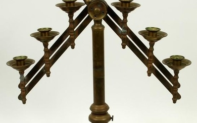 "CHURCH ALTAR BRASS CANDELABRUM H 23.5"" W 18"""