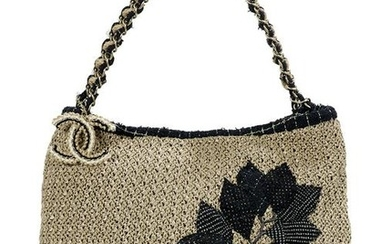 """Chanel Woven Rope and Tweed """"Camelia"""" Tote"""