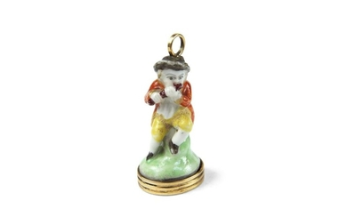 Chelsea Porcelain Seal of a Flutist