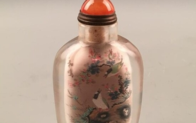 Chinese Glass Painting Snuff Bottle