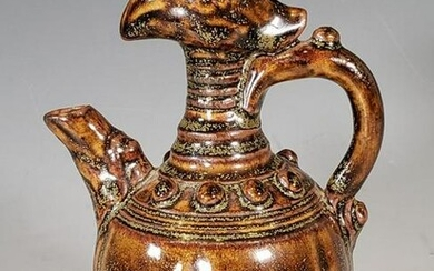 Chinese Tang Dynasty Style Glazed Phoenix Ewer
