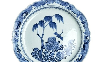 Chinese porcelain 'dragonfly' plate, Qianlong