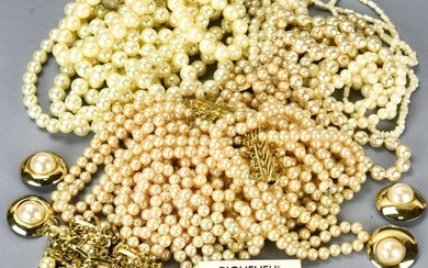 Collection of Vintage Faux Pearl Costume Jewelry