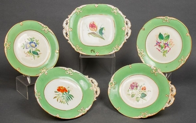 Continental Hand Painted Porcelain Dishes, 5