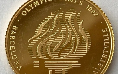Cook Islands - 250 Dollar 1991 - Olympic Games 1992 - 1/4 oz - Gold